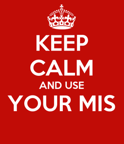 Poster: KEEP CALM AND USE YOUR MIS