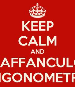 Poster: KEEP CALM AND VAFFANCULO TRIGONOMETRIA