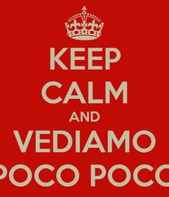 Poster: KEEP CALM AND VEDIAMO POCO POCO
