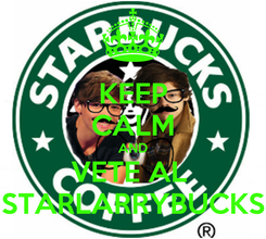 Poster: KEEP CALM AND VETE AL  STARLARRYBUCKS
