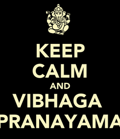 Poster: KEEP CALM AND VIBHAGA  PRANAYAMA