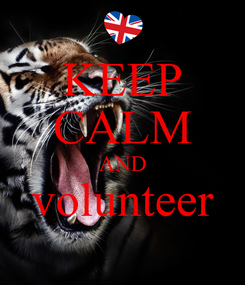 Poster: KEEP CALM AND volunteer