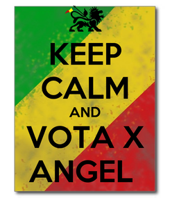 Poster: KEEP CALM AND VOTA X ANGEL