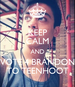 Poster: KEEP CALM AND VOTE 4 BRANDON TO TEENHOOT