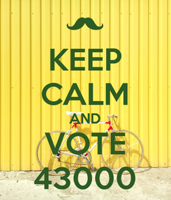Poster: KEEP CALM AND VOTE 43000