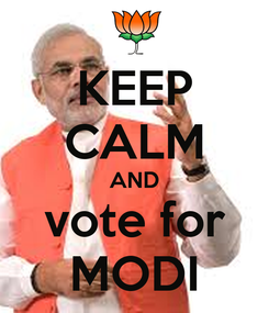 Poster: KEEP CALM AND vote for MODI