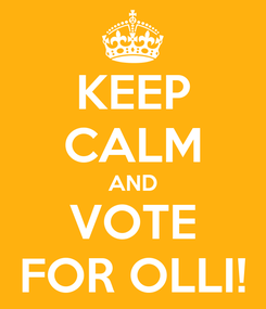 Poster: KEEP CALM AND VOTE FOR OLLI!
