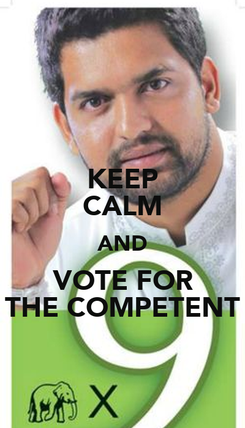 Poster: KEEP CALM AND VOTE FOR THE COMPETENT
