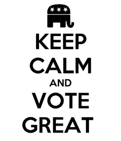 Poster: KEEP CALM AND VOTE GREAT