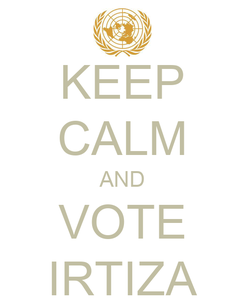 Poster: KEEP CALM AND VOTE IRTIZA