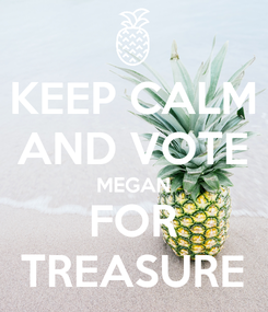 Poster: KEEP CALM AND VOTE MEGAN FOR TREASURE