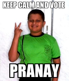 Poster: KEEP CALM AND VOTE  PRANAY