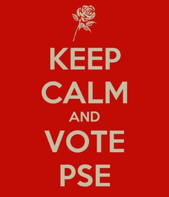 Poster: KEEP CALM AND VOTE PSE