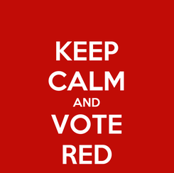 Poster: KEEP CALM AND VOTE RED