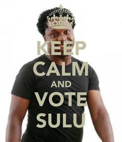 Poster: KEEP CALM AND VOTE SULU