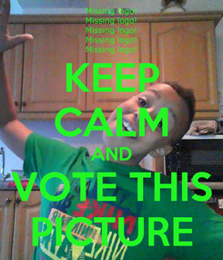 Poster: KEEP CALM AND VOTE THIS PICTURE