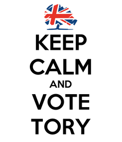 Poster: KEEP CALM AND VOTE TORY