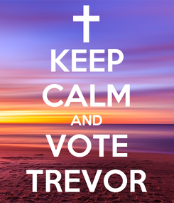 Poster: KEEP CALM AND VOTE TREVOR