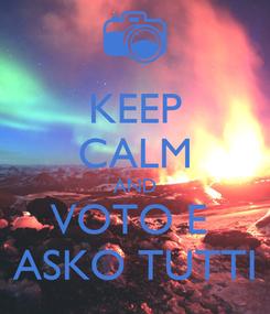 Poster: KEEP CALM AND VOTO E  ASKO TUTTI