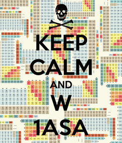 Poster: KEEP CALM AND W 1ASA