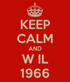 Poster: KEEP CALM AND W IL 1966
