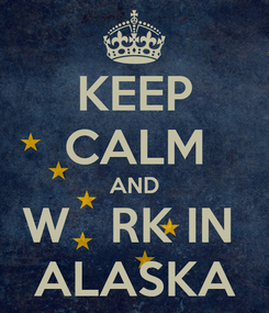 Poster: KEEP CALM AND W   RK IN  ALASKA