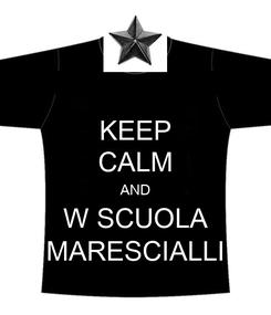 Poster: KEEP CALM AND W SCUOLA MARESCIALLI