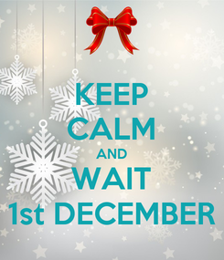 Poster: KEEP CALM AND WAIT 1st DECEMBER