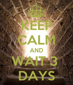 Poster: KEEP CALM AND WAIT 3  DAYS