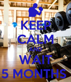 Poster: KEEP CALM AND WAIT 5 MONTHS