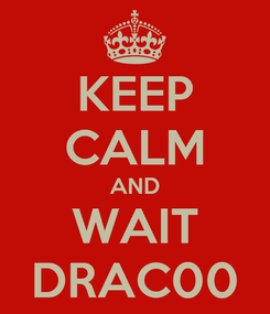 Poster: KEEP CALM AND WAIT DRAC00