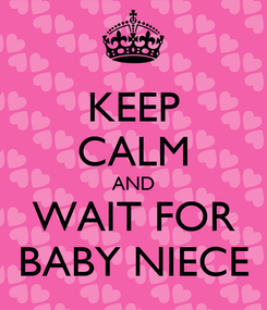 Poster: KEEP CALM AND WAIT FOR BABY NIECE