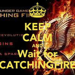Poster: KEEP CALM AND Wait for CATCHINGFIRE