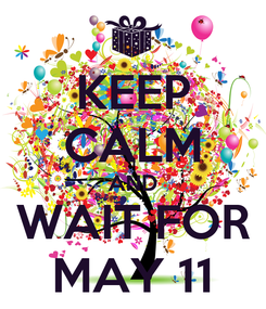Poster: KEEP CALM AND WAIT FOR MAY 11