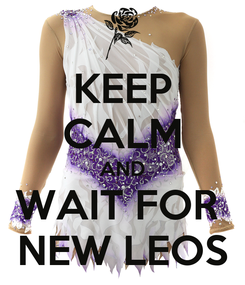 Poster: KEEP CALM AND WAIT FOR  NEW LEOS