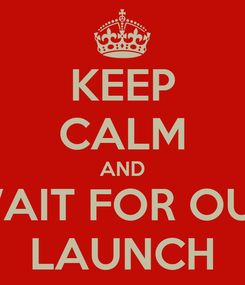 Poster: KEEP CALM AND WAIT FOR OUR LAUNCH