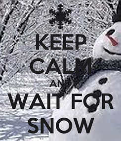 Poster: KEEP CALM AND WAIT FOR SNOW