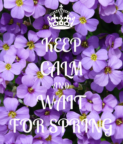 Poster: KEEP CALM AND WAIT FOR SPRING
