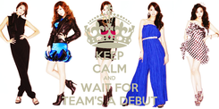 Poster: KEEP CALM AND WAIT FOR TEAM'S A DEBUT