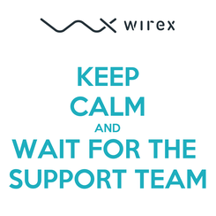 Poster: KEEP CALM AND WAIT FOR THE  SUPPORT TEAM