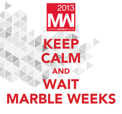 Poster: KEEP CALM AND WAIT MARBLE WEEKS