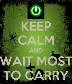 Poster: KEEP CALM AND WAIT MOST TO CARRY