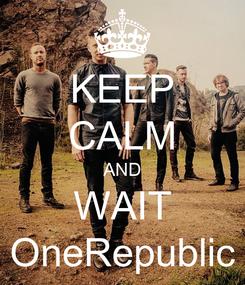 Poster: KEEP CALM AND WAIT OneRepublic