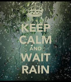 Poster: KEEP CALM AND WAIT RAIN