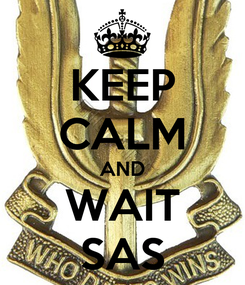 Poster: KEEP CALM AND WAIT SAS
