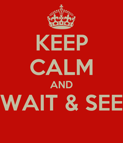 Poster: KEEP CALM AND WAIT & SEE