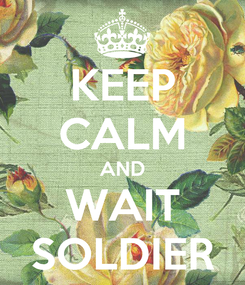 Poster: KEEP CALM AND WAIT SOLDIER