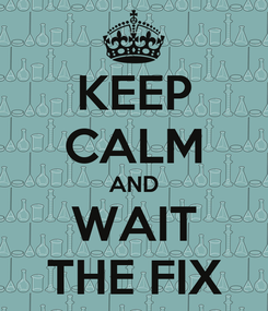 Poster: KEEP CALM AND WAIT THE FIX