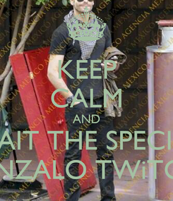 Poster: KEEP CALM AND WAIT THE SPECIAL GONZALO TWiTCAM
