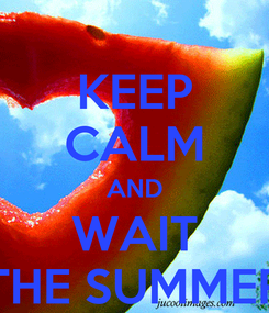 Poster: KEEP CALM AND WAIT THE SUMMER